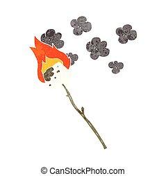 retro cartoon marshmallow - freehand retro cartoon...