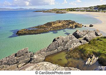 Beach landscape in Ireland