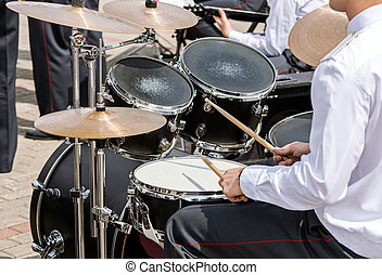 military band drummer