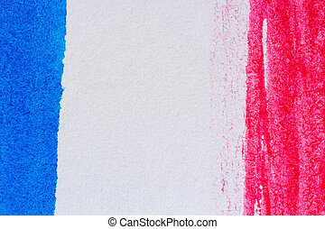 Abstract art background - Abstract hand painted blue and red...