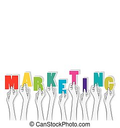 marketing text banner design