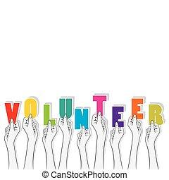 volunteer text banner design
