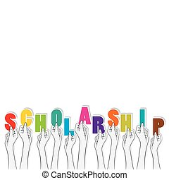 scholarship text banner design - scholarship text banner...