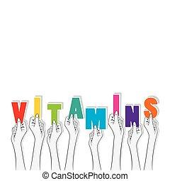 vitamins text banner design