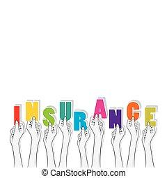 insurance text banner design