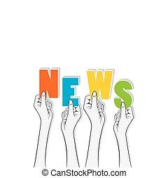 news text banner design