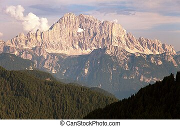 Evening view of Mount Civetta - one of the best mouts in...