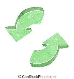 retro cartoon recycling arrows