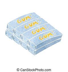 retro cartoon chewing gum - freehand retro cartoon chewing...