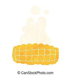 retro cartoon corn cob - freehand drawn retro cartoon corn...