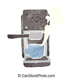 retro cartoon espresso maker - freehand retro cartoon...
