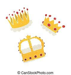 retro cartoon crowns