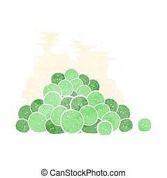 retro cartoon peas - freehand retro cartoon peas