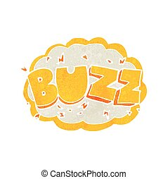 retro cartoon buzz symbol - freehand retro cartoon buzz...