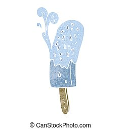 retro cartoon ice lolly - freehand drawn retro cartoon ice...
