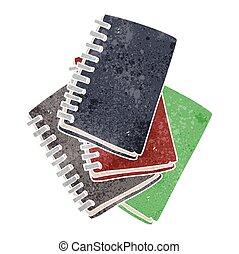 retro cartoon note book - freehand retro cartoon note book