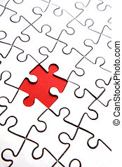 Jigsaw puzzle    - Piece missing from jigsaw puzzle