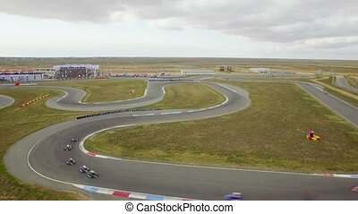 AERIAL VIEW. Russia Carting Championship On Route In...