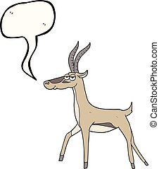 speech bubble cartoon gazelle - freehand drawn speech bubble...