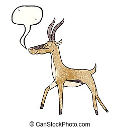 speech bubble textured cartoon gazelle - freehand speech...