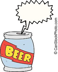 speech bubble cartoon beer can - freehand drawn speech...
