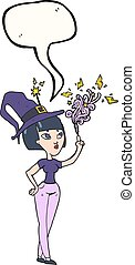 speech bubble cartoon witch - freehand drawn speech bubble...
