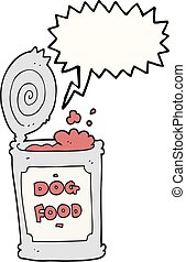 speech bubble cartoon dog food - freehand drawn speech...