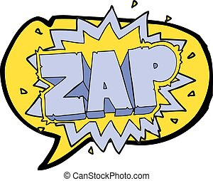 speech bubble cartoon zap explosion sign - happy freehand...