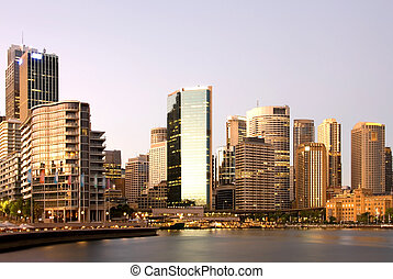 Circular Quay, Sydney, Australia, just after sunrise