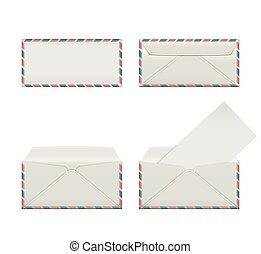 envelope third - Set of four blank narrow envelopes The...
