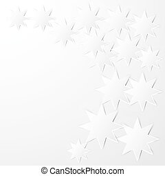 octagonal stars - Abstract background. Paper white octagonal...