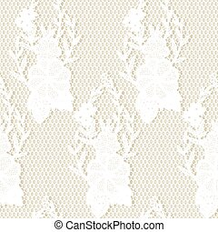 openwork seamless - Seamless lace floral fabric. Vector...