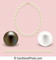 pink with pearls - A collection of objects made ??of pearls...