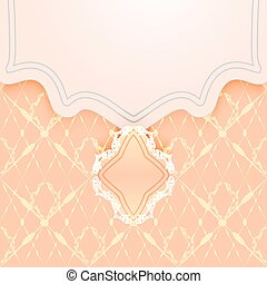 Gentle card or wedding invitation in the form of an envelope...