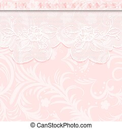weave - Wedding invitation or greeting card with delicate...