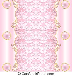 pink with pearls - The rich pink background with pearls. Can...