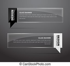 Glass banners with quote bubble - Design banners glass with...