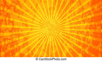modern orange ray abstract animation background