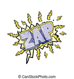 speech bubble textured cartoon zap symbol - freehand speech...