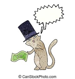 texture speech bubble cartoon rich cat