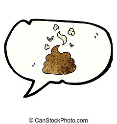 speech bubble textured cartoon gross poop - freehand speech...
