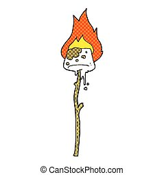 cartoon marshmallow - freehand drawn cartoon marshmallow