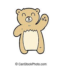 cartoon teddy bear - freehand drawn cartoon teddy bear