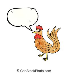 speech bubble textured cartoon cock - freehand speech bubble...