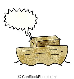 speech bubble textured cartoon noah's ark - freehand speech...