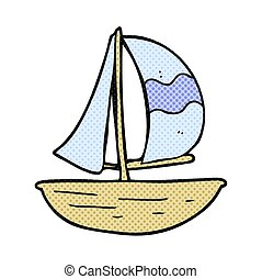 cartoon sail ship