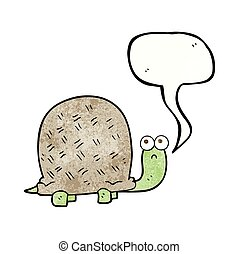 speech bubble textured cartoon sad turtle
