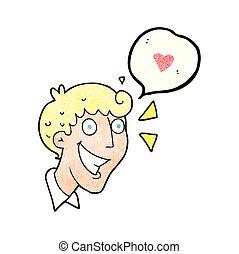 speech bubble textured cartoon excited man - freehand speech...