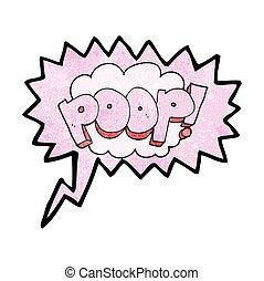 speech bubble textured cartoon poop! text - freehand speech...