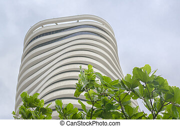 Low Angle View Modern Building in Guayaquil Ecuador - Low...